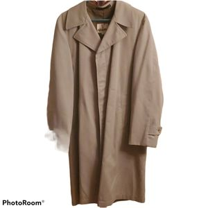 Vintage 80s Classic Camel Colored Trench